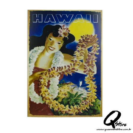 Kit Painel Decorativo Festa Havaiana 4 unidades