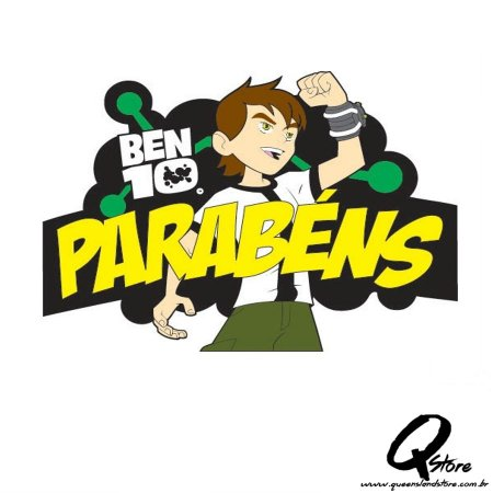 Painel Ben 10  -Parabéns - E.v.a
