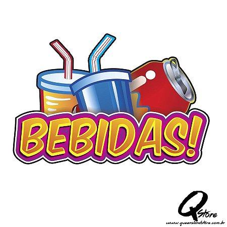 Plaquinha Bebidas - Festa Junina