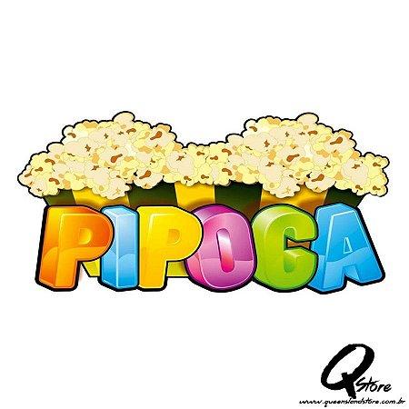 Plaquinha Pipoca - Festa Junina