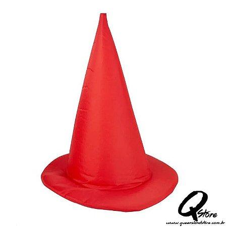 Chapéu Bruxa Simples - Vermelho