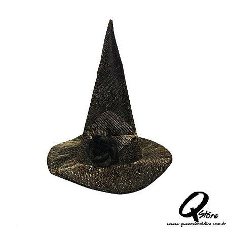 Chapéu Bruxa Simples - Fio Dourado