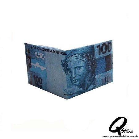 Carteira Masculina Slim - Em formato de nota de 100 Reais