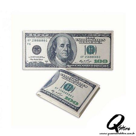 Carteira Masculina Slim - Em formato de nota de 100 Dólares