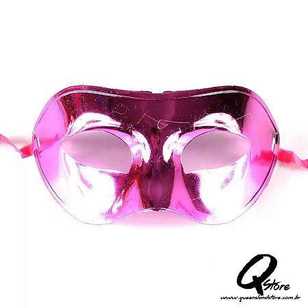 Máscara Veneziana Lisa Metalizada- Pink