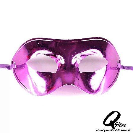 Máscara Veneziana Lisa Metalizada- Roxo