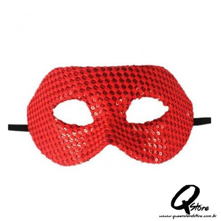 Máscara Veneziana Luxo- Vermelha