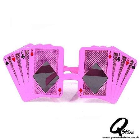 Óculos Baralho Rosa - Lente Preta