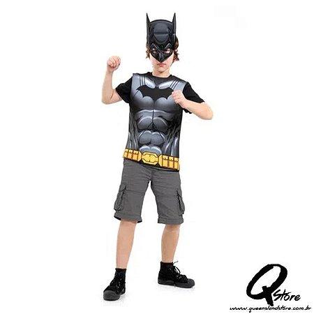 Kit Peitoral Batman Infantil - Liga da Justiça