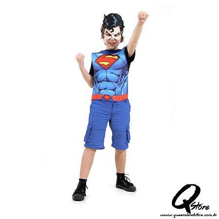 Kit Peitoral Super Homem Infantil - Liga da Justiça