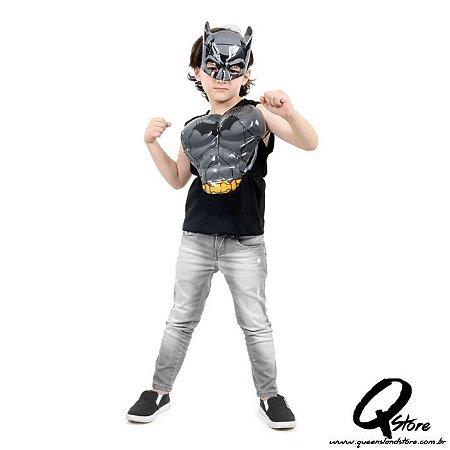 Kit Batman Dc Simples - Máscara e Peitoral Plástico