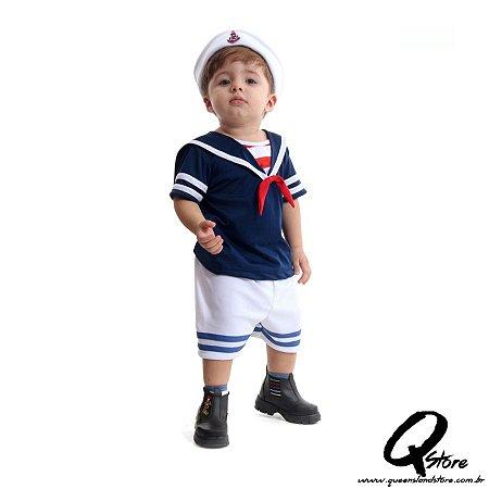 Fantasia Marinheiro Bebê Verão - Infantil