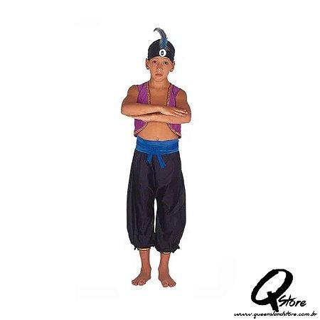 Fantasia Aladdin Simples - Infantil