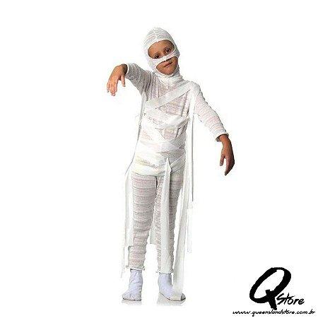 Fantasia Múmia Infantil Masculino - Halloween P