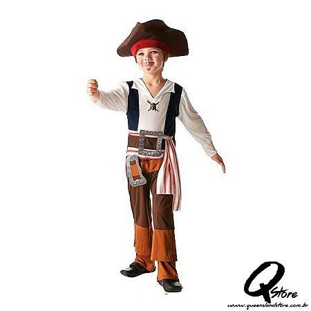 Fantasia Capitão Jack Sparrow Infantil Longa - P