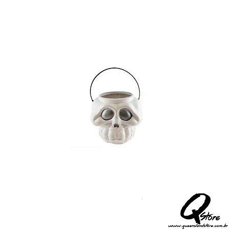 Mini balde Caldeirão de Bruxa - Esqueleto Branco