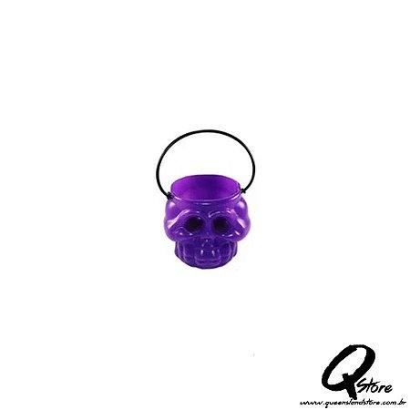 Mini balde Caldeirão de Bruxa - Esqueleto Roxo