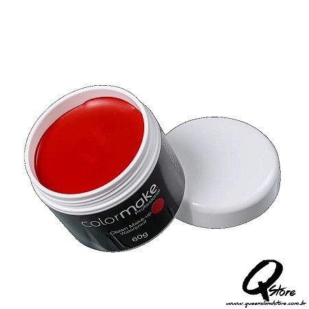 Colormake Clown Makeup Vermelho - Tinta Cremosa 60g