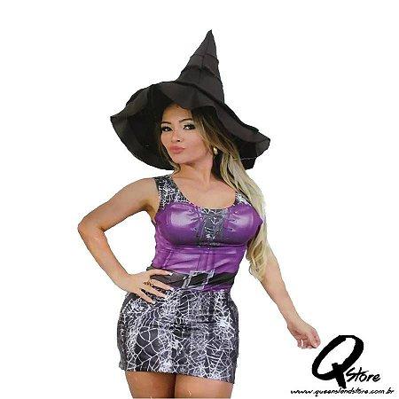 Fantasia Vestido Bruxa - Halloween