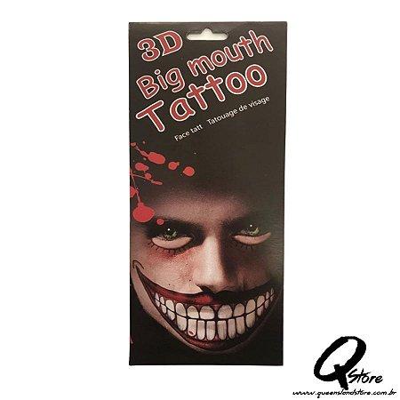 3D Big Mouth - Tatuagem Mod 1