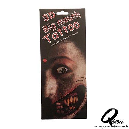 3D Big Mouth - Tatuagem Mod 5