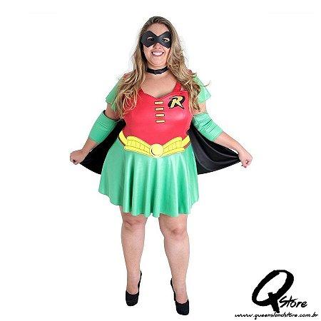 Fantasia Robin Plus Size Feminina Adulto
