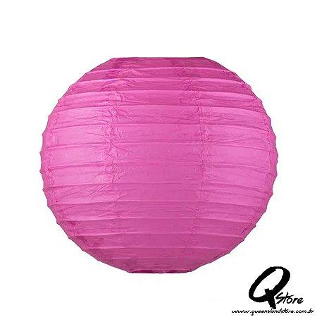 Lanterna de Papel Japonês s/ luz 30 cm - Pink
