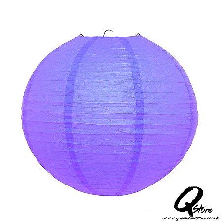 Lanterna de Papel Japonês s/ luz 30 cm - Roxo
