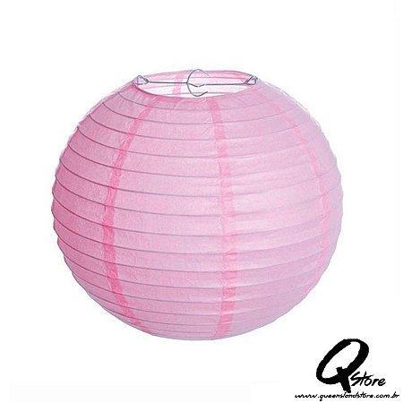 Lanterna de Papel Japonês s/ luz 30 cm - Rosa