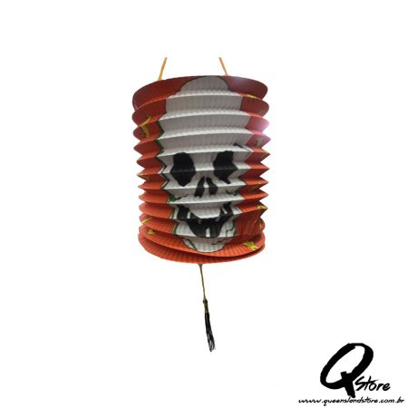 Lanterna de Papel  s/ Luz Halloween- Laranja