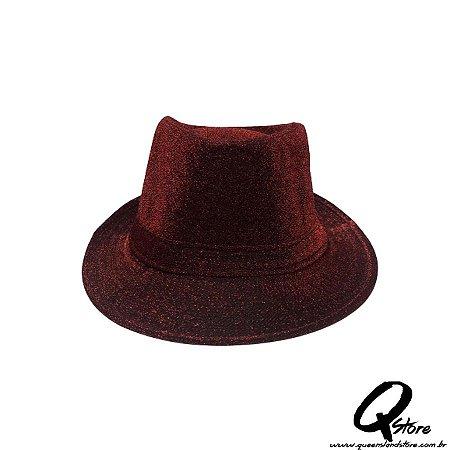 Chapéu Malandro Glitter Vermelho - Unidade