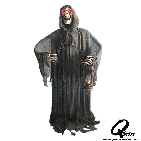 Boneco Halloween Monge Negra 155CM X 40CM - 1 Unidade