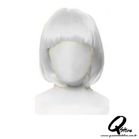 Peruca Chanel Simples - Branco