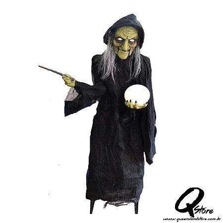 Boneco Halloween Bruxa Verde c/ 2 Metros   - 1 Unidade