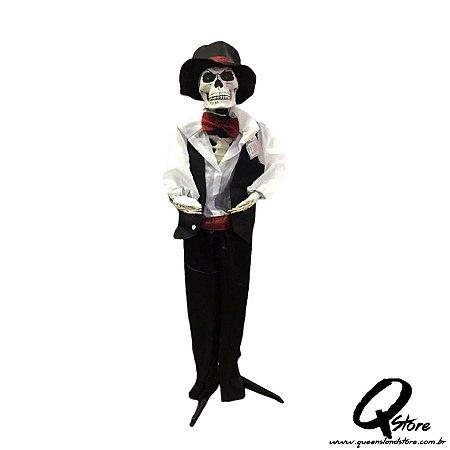 Boneco Halloween Caveira Noivo   - 1 Unidade