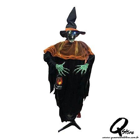 Boneco Halloween Bruxa Verde c/ 1,75 m   - 1 Unidade