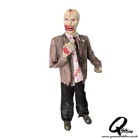 Boneco Halloween Zumbi c/ Sensor de Movimento 2 Metros   - 1 Unidade