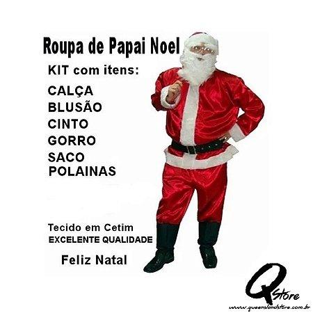 Fantasia Papai Noel - Tamanho Único