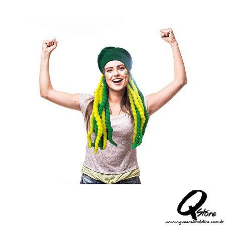 Peruca Bob Reggae Verde e Amarelo