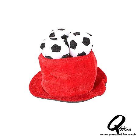 Cartola Chapéu com 3 Bolas de Futebol