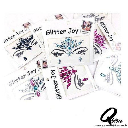 5 Unid De Adesivos Pedra Glitter Joy P/ Rosto Sortidos