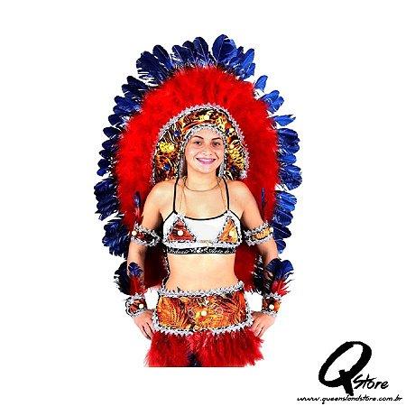 Cocar Gigante Índio - Colorido -Disponível Apenas em nossa Loja- R$170,00