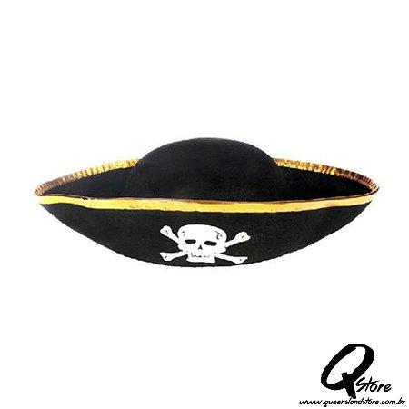Chapéu Pirata 3 pontas - Infantil