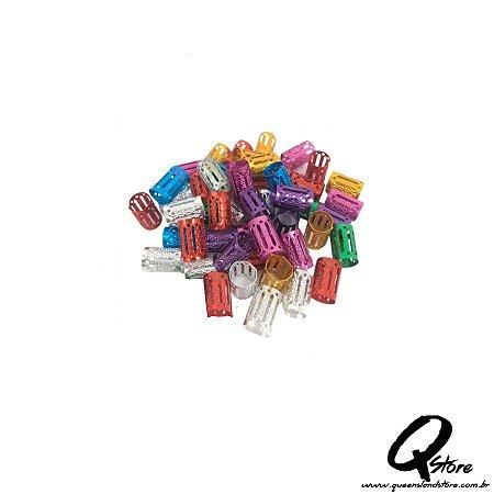 Anel Para Trança Ajustável  c/10 und - Colorido