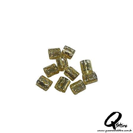 Anel Para Trança Ajustável  c/10 und - Dourado