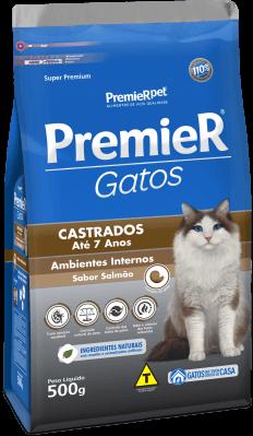 PREMIER GATOS CASTR ATÉ 7 ANOS SALM 0,5KG