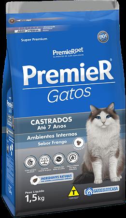 PREMIER GATOS CASTRADOS 7ANOS FRANGO 1,5K
