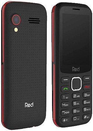 CELULAR RED MOBILE MEGA M010F PRETO-VERMELHO