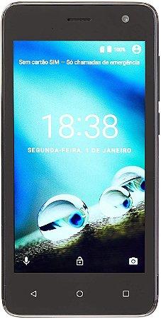 SMARTPHONE MS45 4G QUAD CORE 8GB DUAL CHIP PRETO NB720