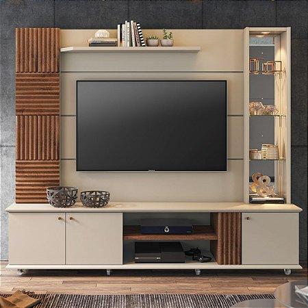 HOME RIVIERA Suporta Tv's de até 60 polegadas - (2,16M) Com LED e rodizio ./OFF WHITE/SAVA